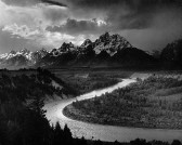 Anselm Adams - The Tetons and the Snake River, 1942